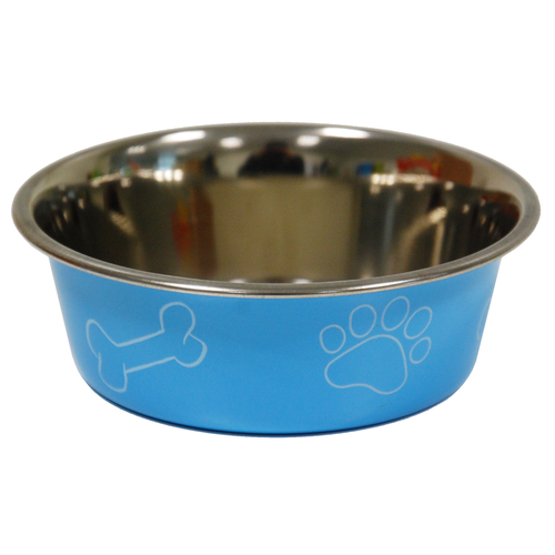 COLORED BOWL PRINT DIA 12CM BLUE