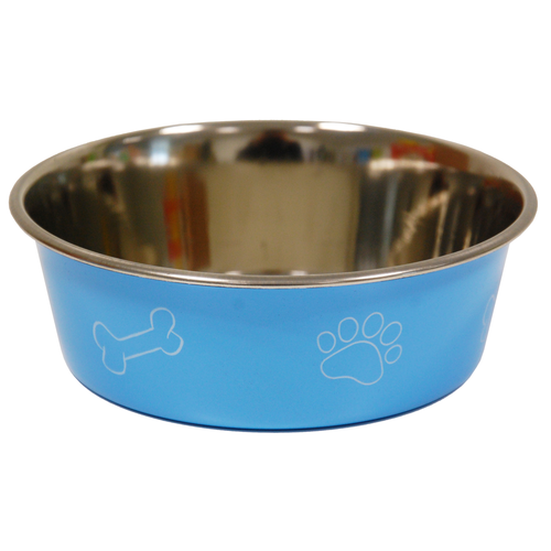 COLORED BOWL PRINT DIA 17CM BLUE
