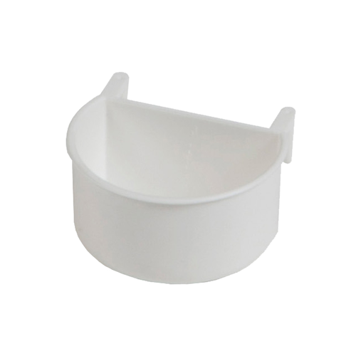 FEEDER WITH PLASTIC HOOKS 7.5X6.5X4CM WHITE