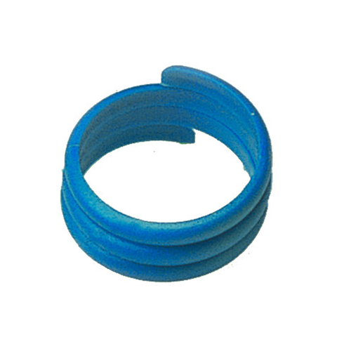 100 PLASTIC BIRD RINGS 18 MM BLUE