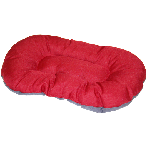 DOG CUSHION KINLYS 120 CM RED/GREY