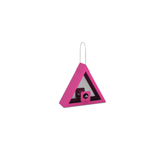 SEED FEEDER TRIANGLE PINK