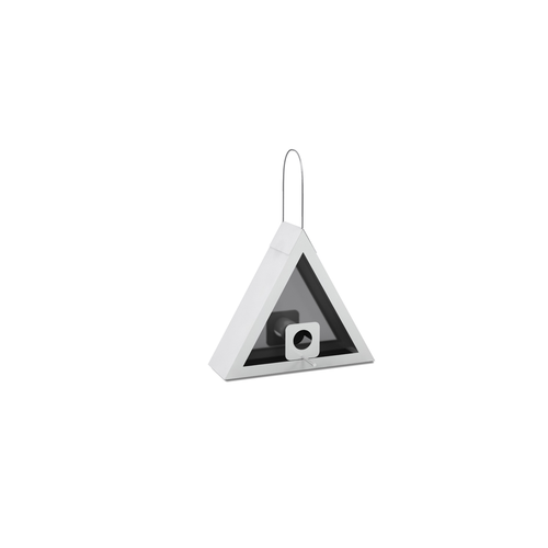 SEED FEEDER TRIANGLE WHITE