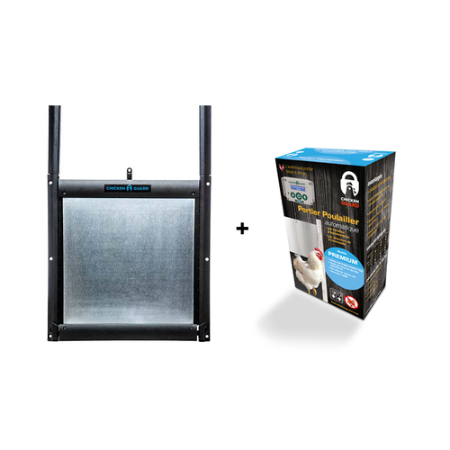 SELF-LOCKING DOOR KIT & CHICKENGUARD PREMIUM