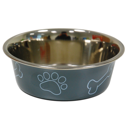 COLORED BOWL PRINT DIA 12CM GREY