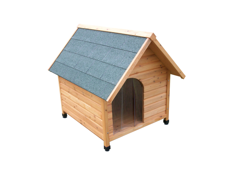 WIGGLE WOODEN DOGHOUSE SMALL